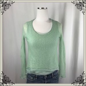 Anthro Knitted & Knotted Mint Green Sweater #2579